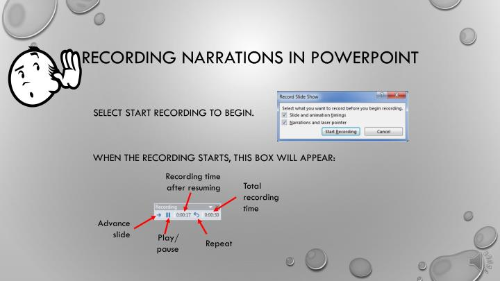 Recording narrations in powerpoint2