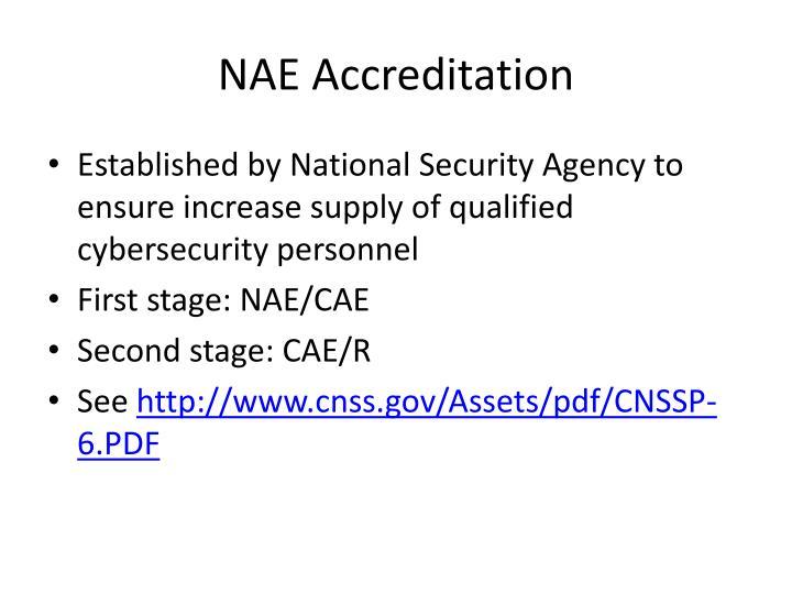 NAE Accreditation