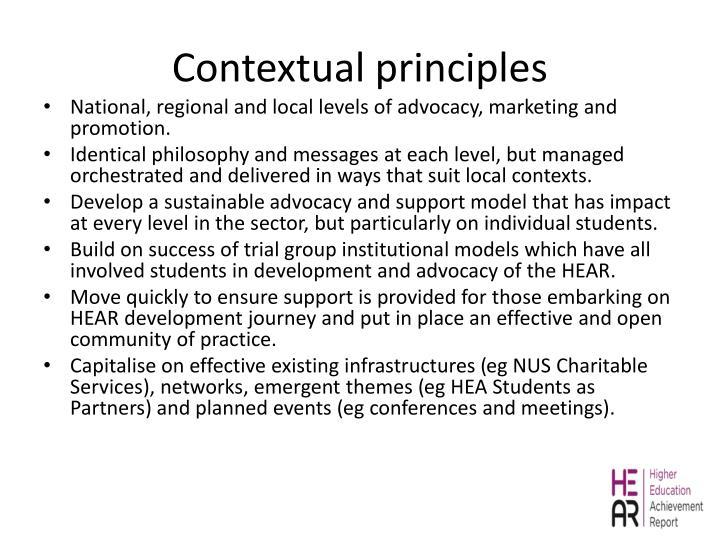 Contextual principles