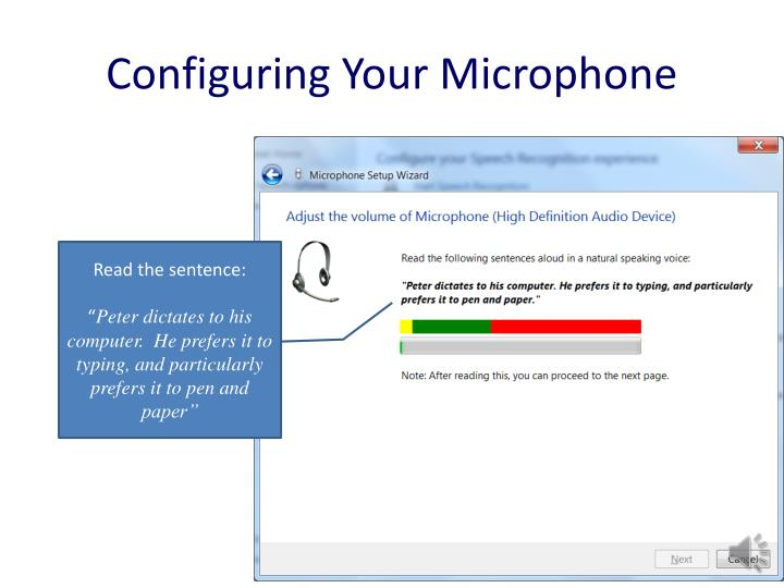 Configuring Your Microphone