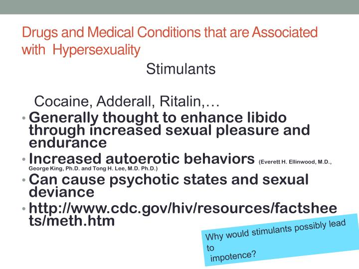 Drugs and Medical Conditions that are Associated with  Hypersexuality