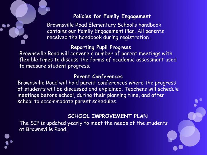 Policies for Family Engagement