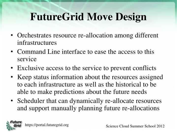 FutureGrid Move Design