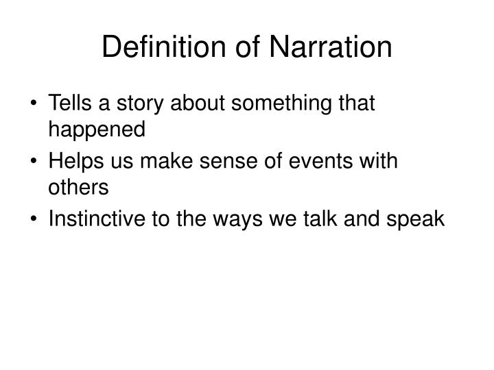Definition of narration