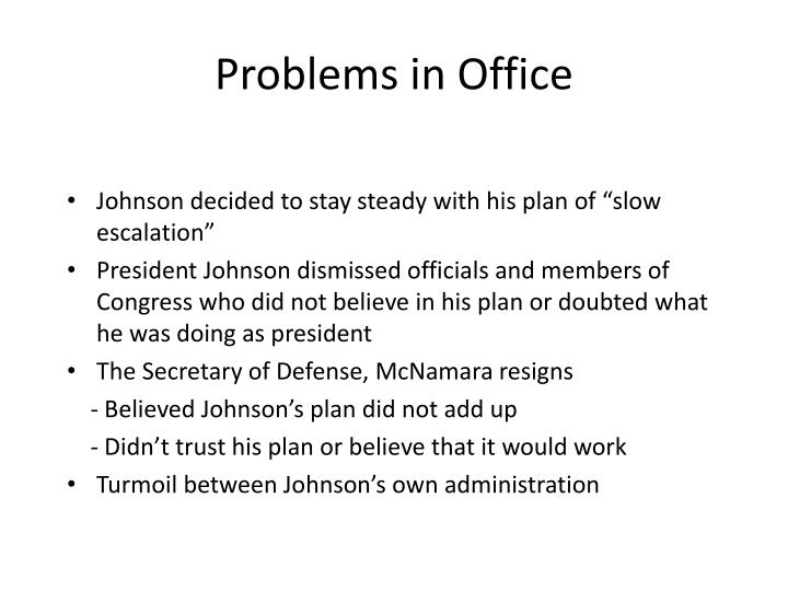 Problems in Office