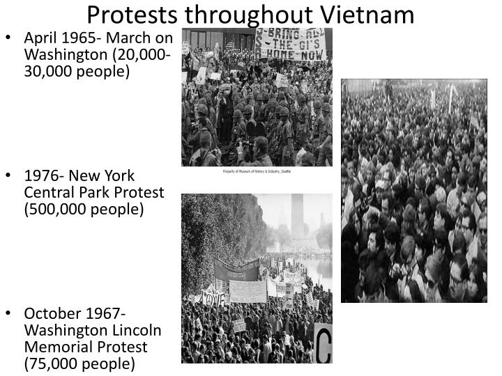 Protests throughout Vietnam