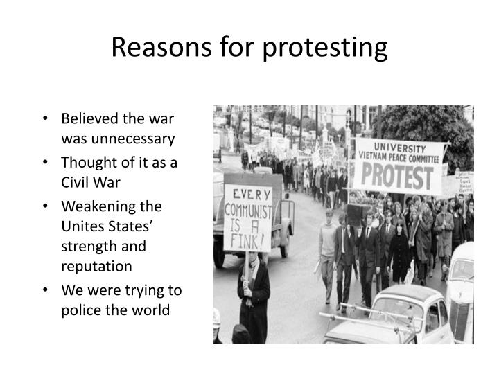 Reasons for protesting