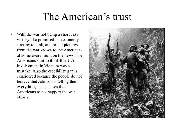 The American's trust