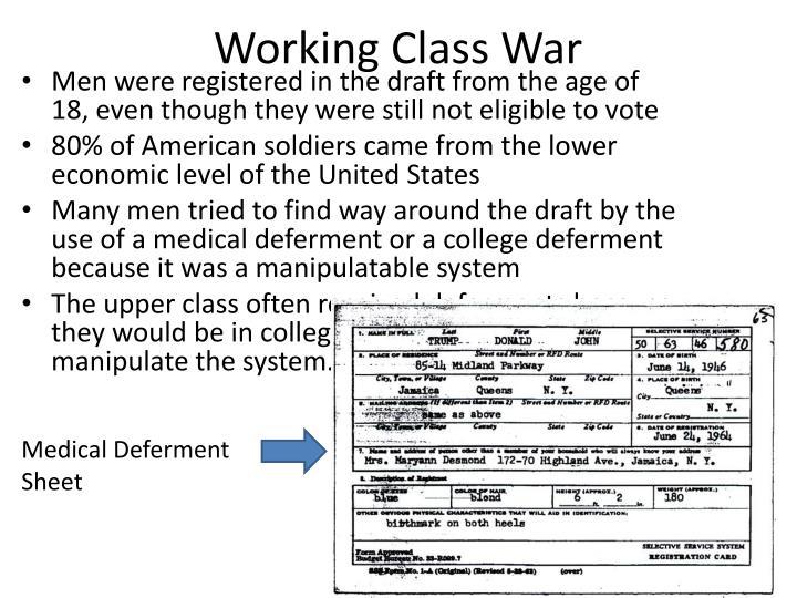 Working Class War