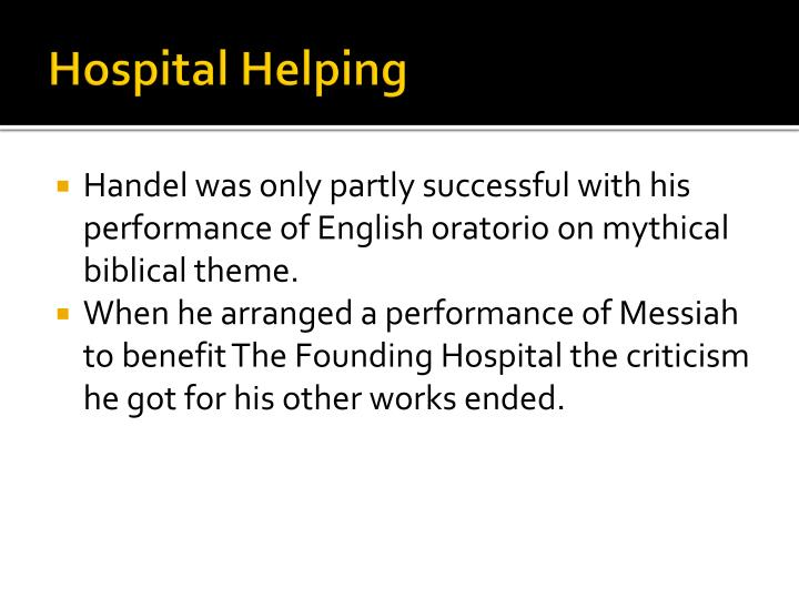 Hospital Helping