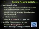 general naming guidelines1
