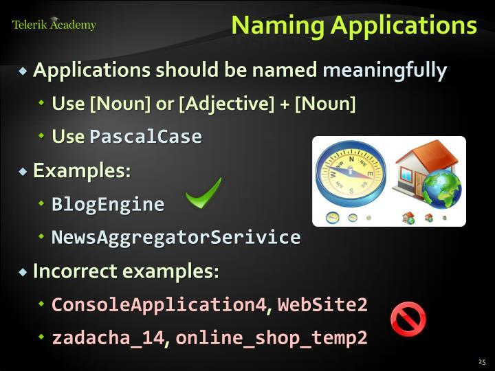 Naming Applications