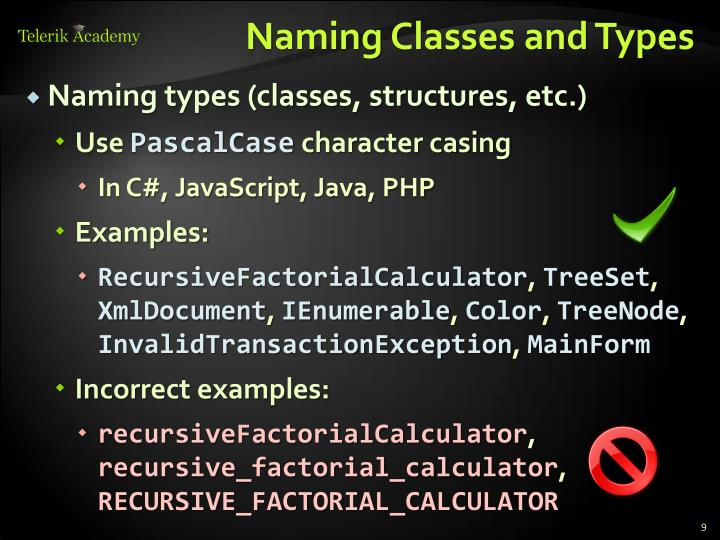 Naming Classes and Types