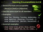 naming enumerations in c