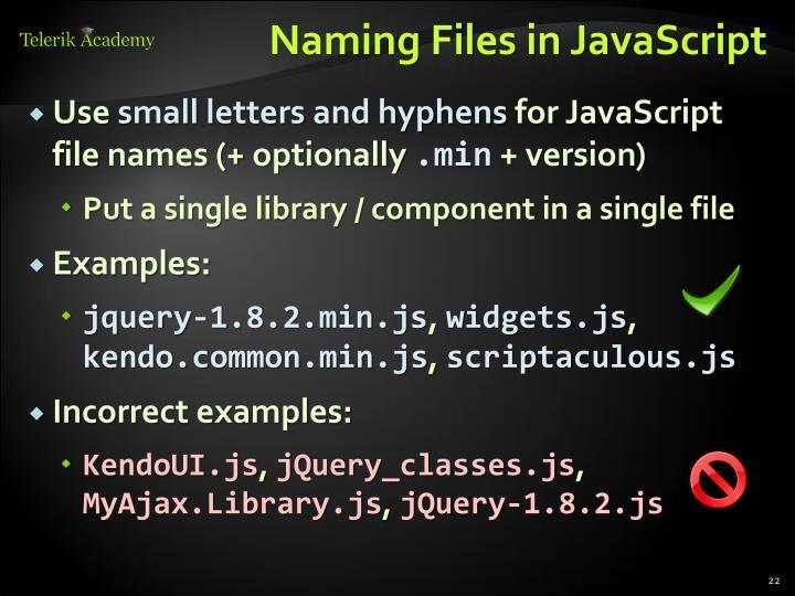 Naming Files in JavaScript