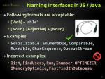 naming interfaces in js java