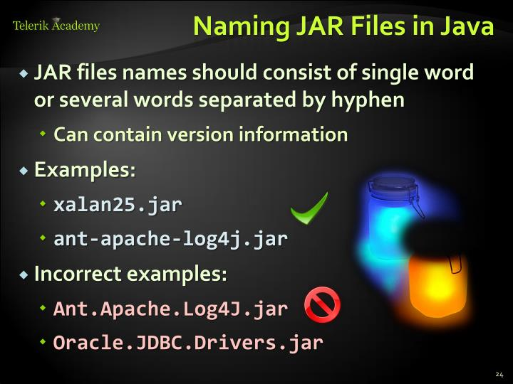 Naming JAR Files