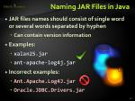 naming jar files in java