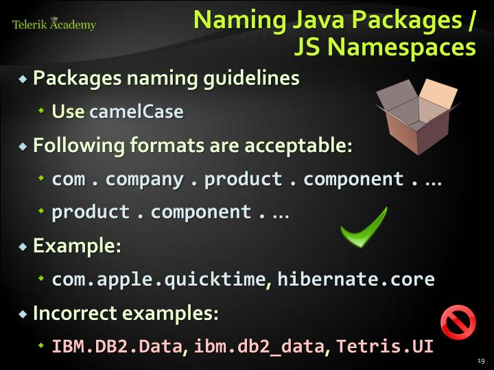 Naming Java Packages /