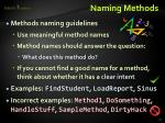 naming methods
