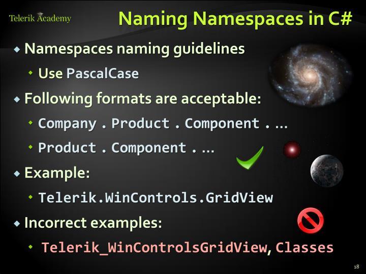 Naming Namespaces in C#