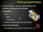 naming project folders