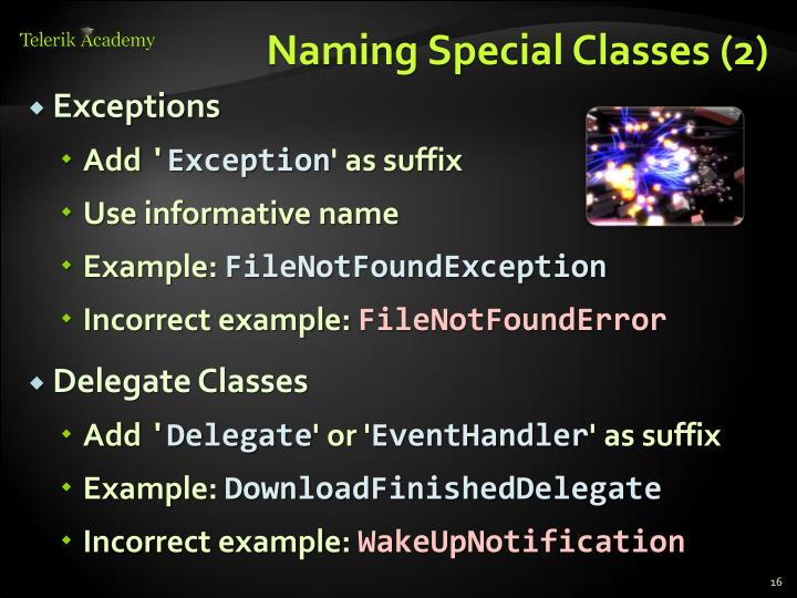 Naming Special Classes (2)