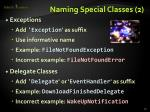 naming special classes 2