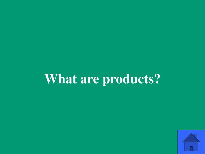 What are products?