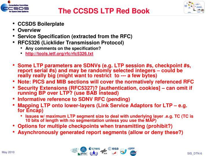 The CCSDS LTP Red Book