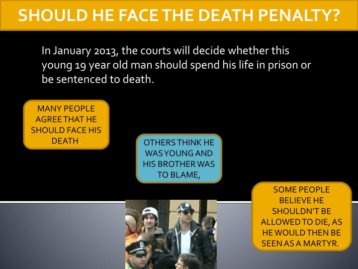 SHOULD HE FACE THE DEATH PENALTY?