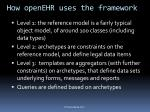 how openehr uses the framework