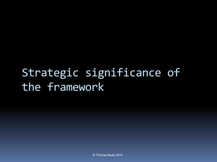 Strategic significance of