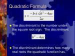 quadratic formula1
