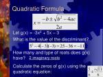 quadratic formula4