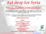 aid drop for syria