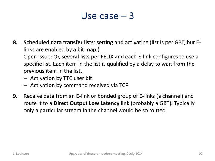 Use case –