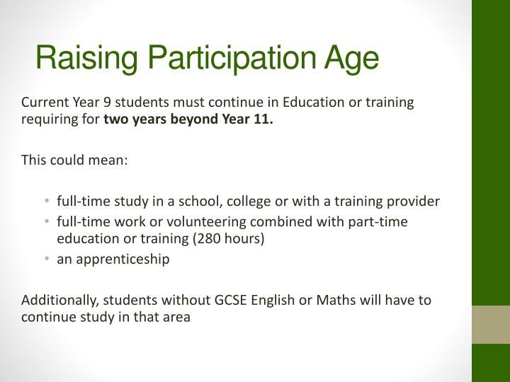 Raising Participation Age