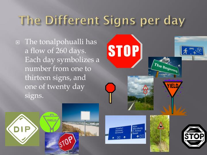 The Different Signs per day