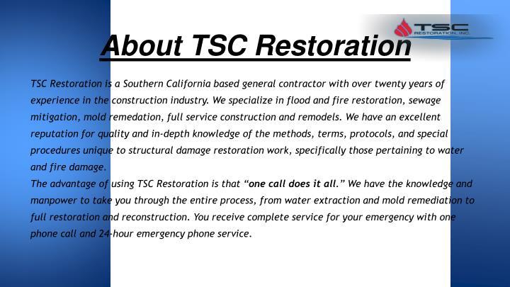 About TSC Restoration
