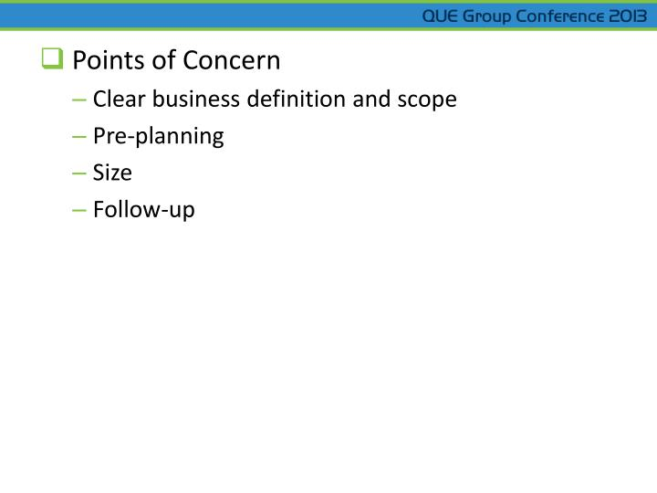 Points of Concern