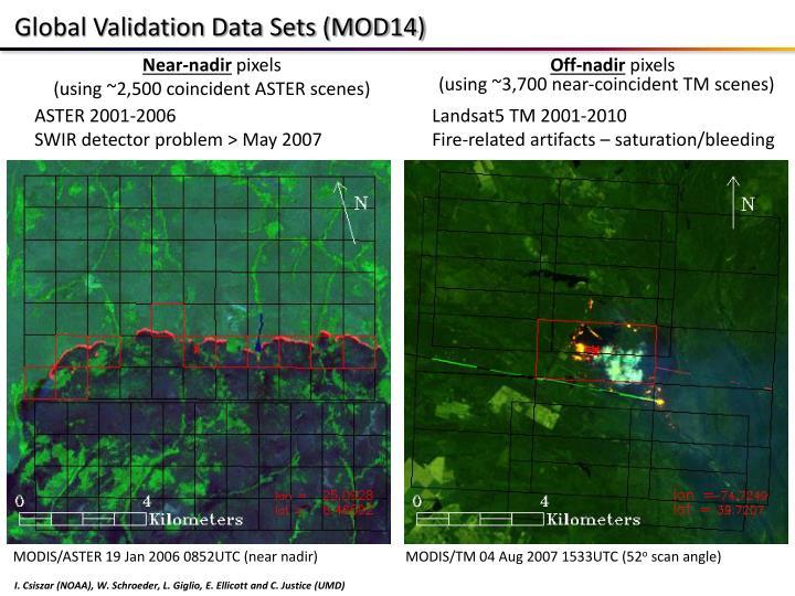 Global Validation Data Sets (MOD14)