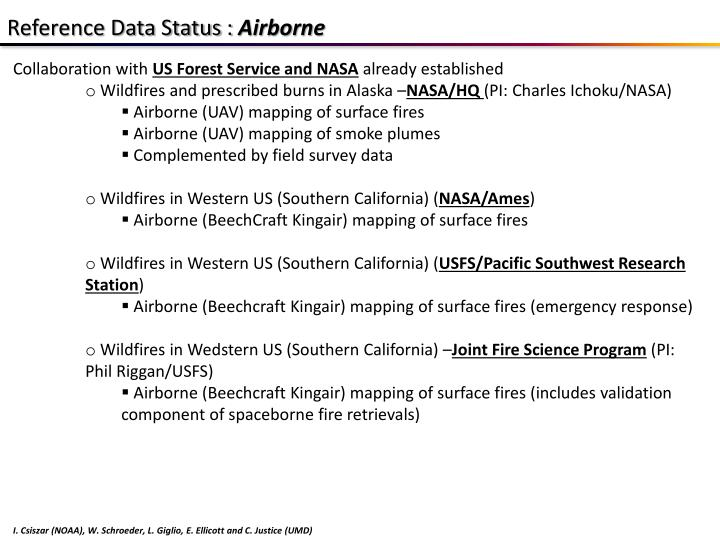 Reference Data Status :