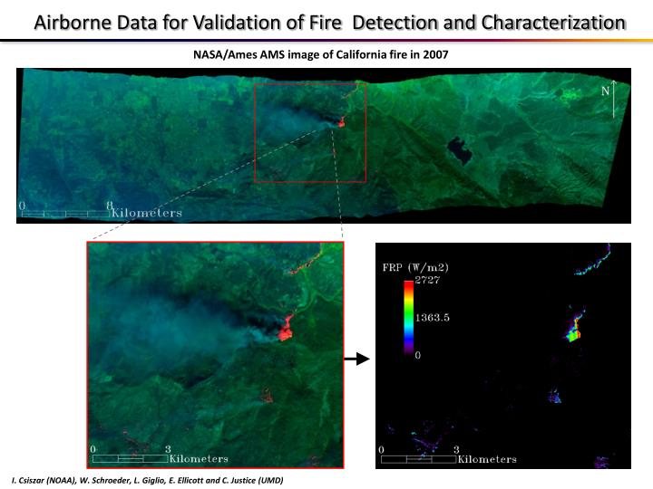 Airborne Data for Validation of Fire  Detection and Characterization