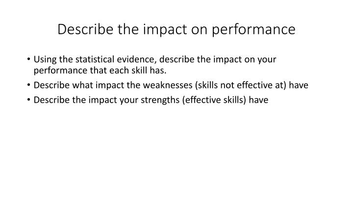 Describe the impact on performance