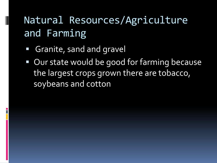 Natural Resources/Agriculture and Farming