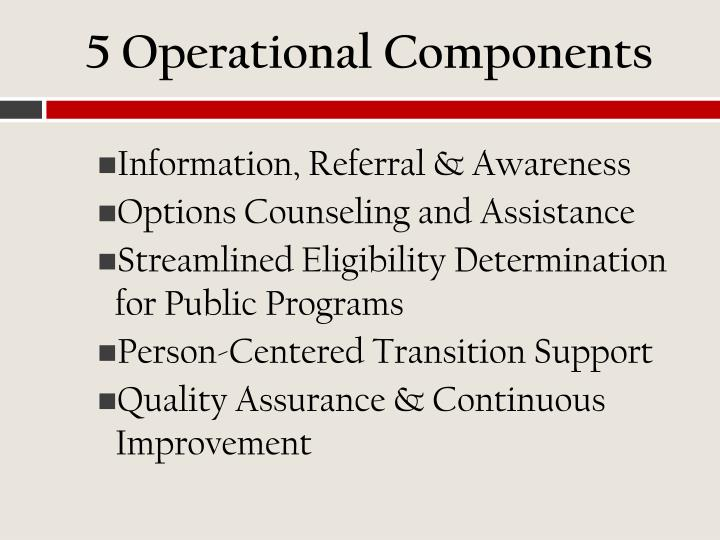5 Operational Components