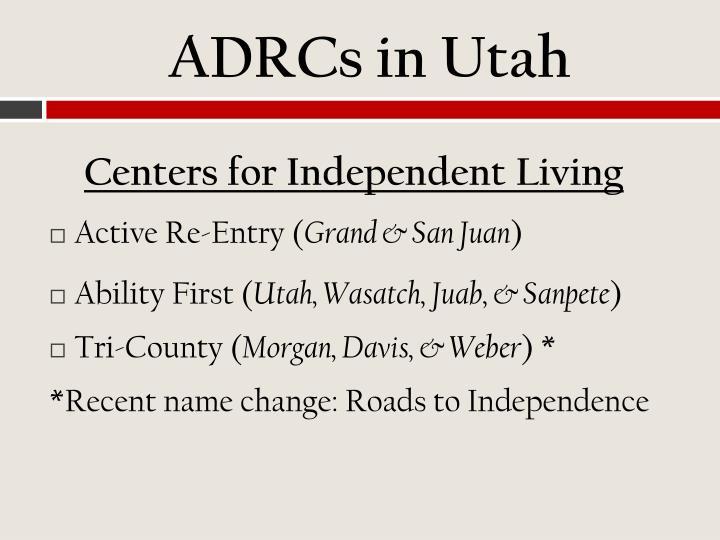 ADRCs in Utah