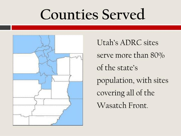 Counties Served