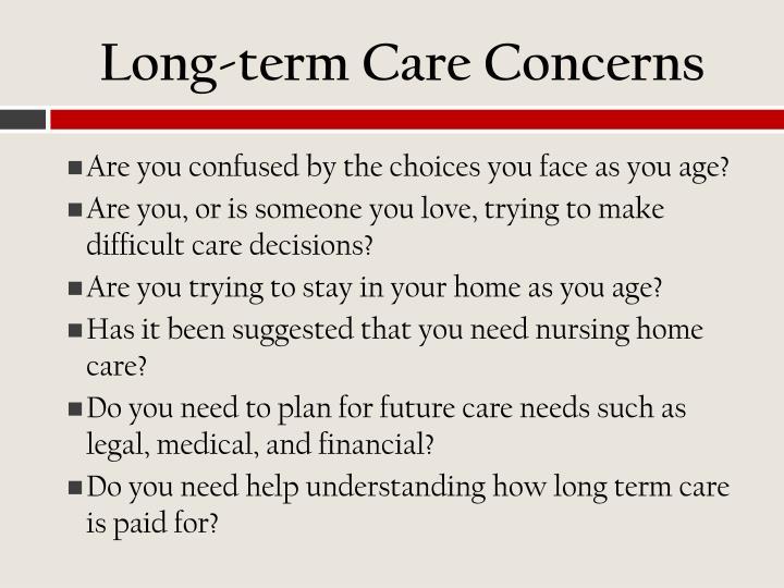 Long-term Care Concerns